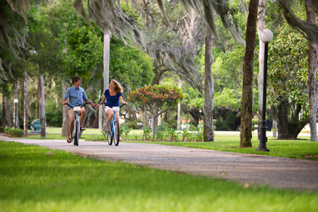 Biking on St. Simons Island, GA